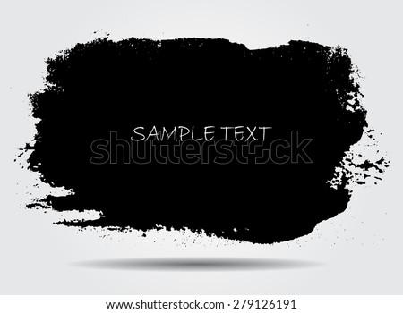 Abstract grunge banner for design use.Black grunge banner.Vector illustration. - stock vector
