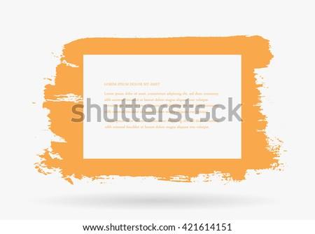 Abstract Grunge Banner.Vector Grunge Frame. - stock vector