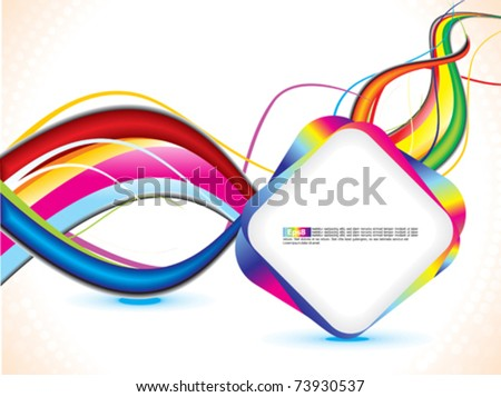 abstract grunge based wave background - stock vector