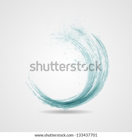 Abstract grunge blue banner. Vector wave - stock vector