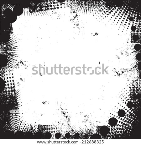 abstract grunge border - stock vector