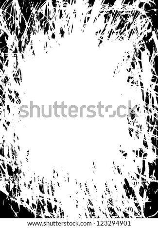 Abstract grunge border design on the white background - stock vector