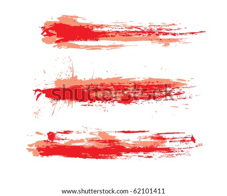 abstract grunge brushes used in your project. vector illustration - stock vector
