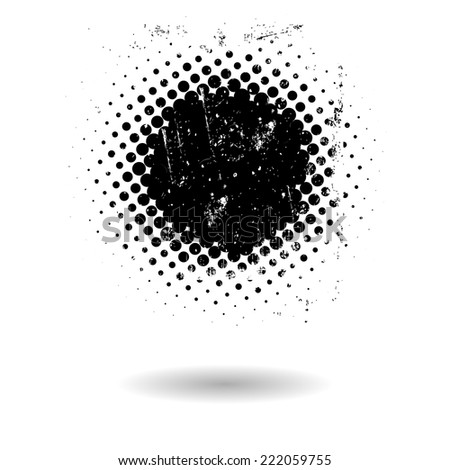 Abstract grunge dotted background - stock vector