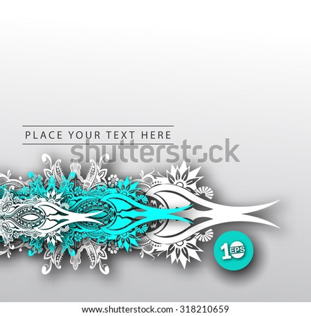 Abstract grunge floral design vector background - stock vector