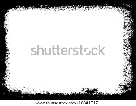 Abstract grunge frame. Background vector texture