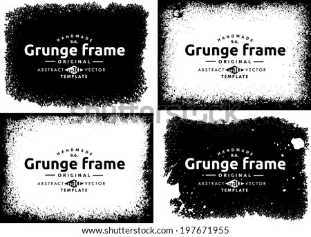 Abstract grunge frame set. Background vector texture - stock vector