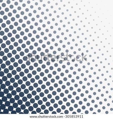 Abstract grunge halftone dotted background. Black and white vector illustration - stock vector