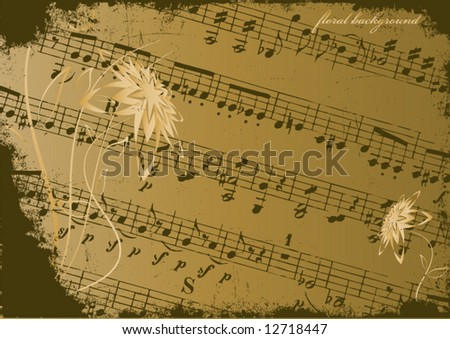 Abstract grunge musical background. Vector