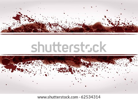 Abstract Grunge paint or blood splatter background - stock vector