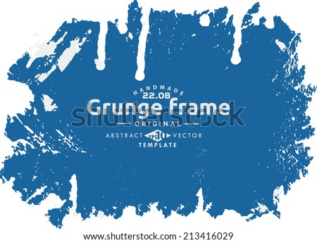 Abstract grunge photo frame. Background vector texture