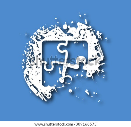 Abstract grunge puzzle design element. - stock vector