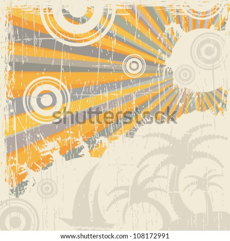 Abstract grunge retro background - stock vector