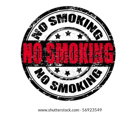 Abstract grunge rubber  stamp in vector format with the word no smoking - stock vector