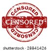 Abstract grunge rubber stamp shape with the word censored - stock vector