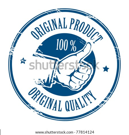 Abstract grunge rubber stamp with text original product written inside the stamp, vector illustration - stock vector