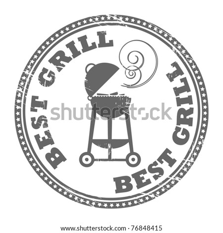 Abstract grunge rubber stamp with the word Best Grill written inside the stamp, vector illustration - stock vector