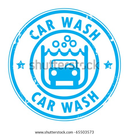 Abstract grunge rubber stamp with the words car wash written inside, vector illustration - stock vector