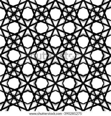 Abstract grunge seamless pattern. Geometric ornament. Vector design.