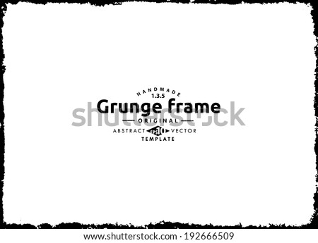 Abstract grunge splash frame.  Vector template - stock vector