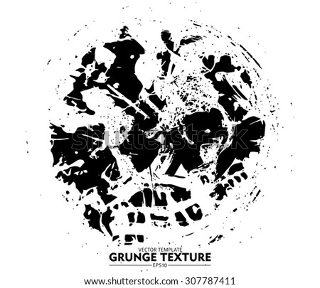 Abstract grunge strokes - design elements vector template