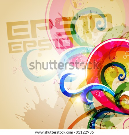 abstract grunge style colorful background with space for your text - stock vector