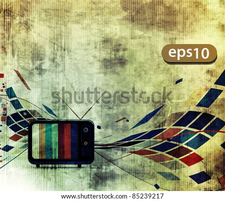 abstract grunge texture with  mosaic design, advertisement poster - stock vector