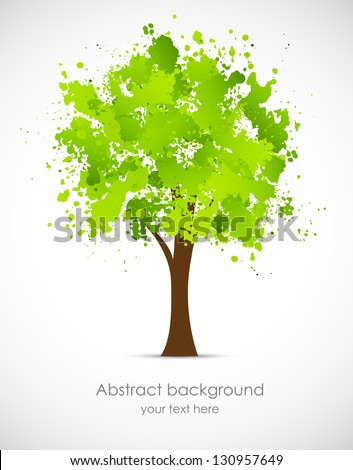 Abstract grunge tree - stock vector