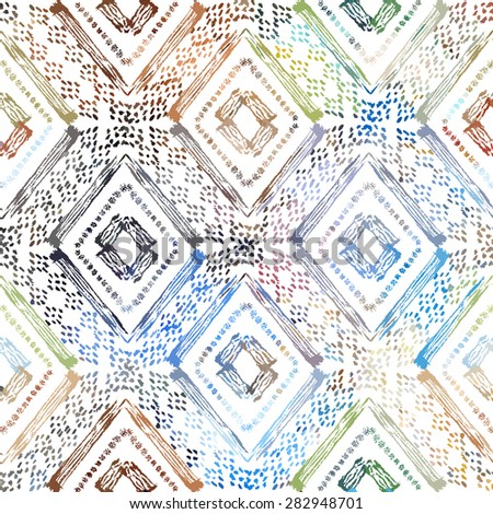 Abstract grunge tribal seamless pattern, design element. Can be used for invitations, greeting cards, scrapbooking, print, gift wrap, manufacturing - stock vector