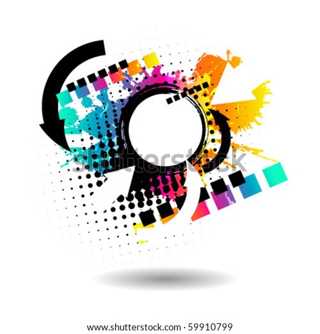 abstract grunge vector - stock vector