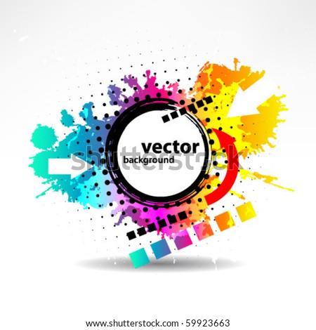 abstract grunge vector - stock vector
