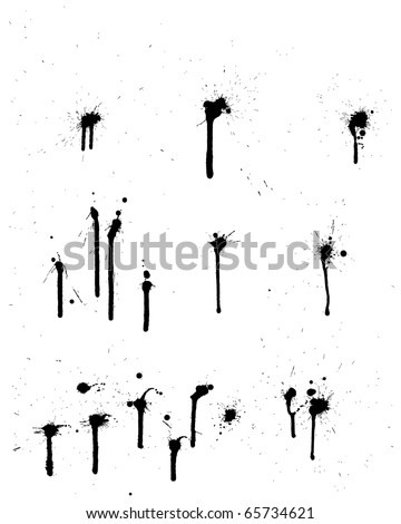 Abstract grunge vector background set for design use.