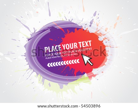 abstract grunge vector composition with halftone urban background. - stock vector