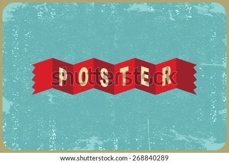 Abstract grunge vintage ribbons background. Vector illustration - stock vector