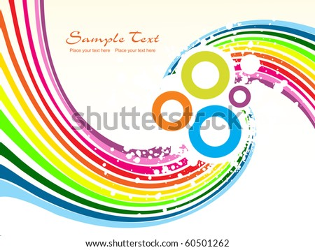 abstract grungy colorful stripes background with circle