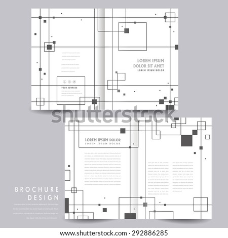 abstract half-fold template design with geometric elements  - stock vector