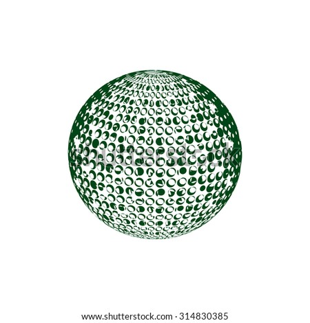 Abstract halftone background. Green and white. Globe design. Latex