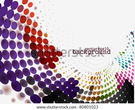 abstract halftone background, vector illustration. - stock vector