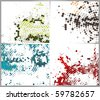abstract halftone circle background with copy space, vector illustration. - stock vector