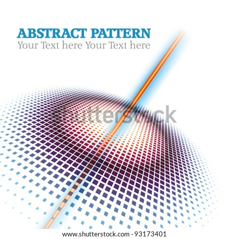 abstract halftone Circle dots  pattern background - stock vector