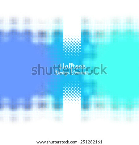 Abstract Halftone Design Elements. Vector illustration - stock vector