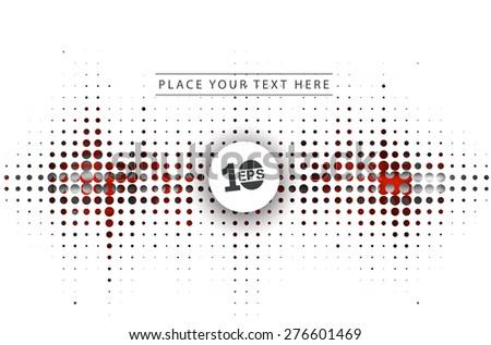 Abstract Halftone Design, eps10 vector - stock vector