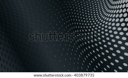 Abstract halftone dots background in black colors - stock vector