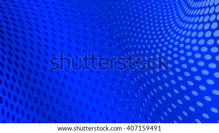 Abstract halftone dots background in blue colors - stock vector