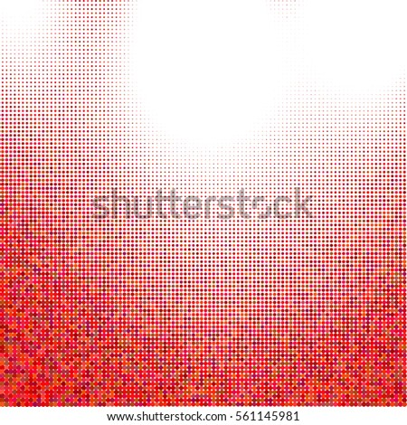 Abstract halftone dotted background. Vector illustration.