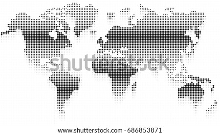 World map square dots vector background vectores en stock 678706783 abstract halftone dotted background world map vector illustration gumiabroncs Images