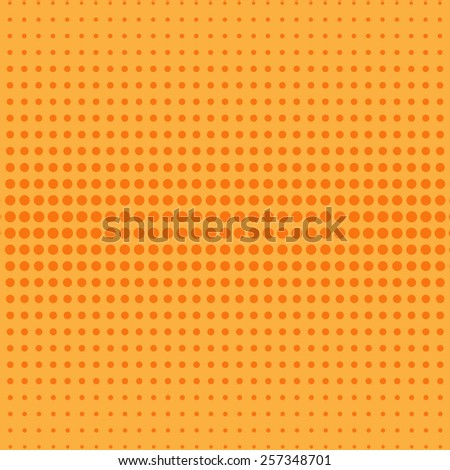 Abstract halftone effect on the yellow background - stock vector