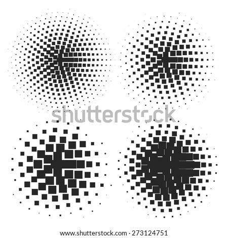 Abstract Halftone Elements Logo Design Dots. Vector illustration - stock vector