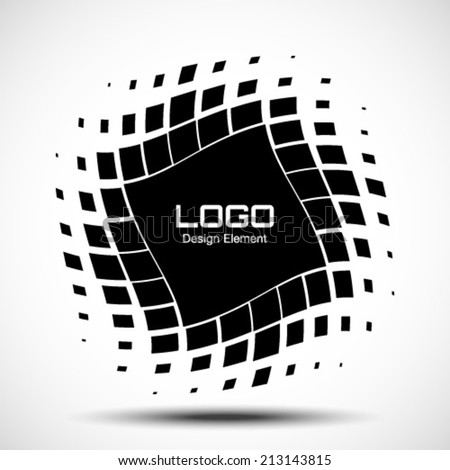 Abstract Halftone Logo Design Element, vector illustration  - stock vector