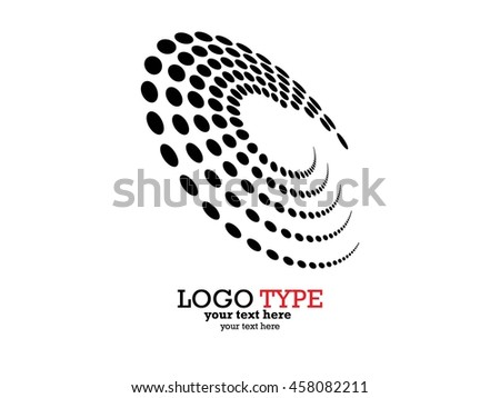 Abstract Halftone Logo Design Element, vector illustration